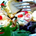 Baked Potato Salad with Honey Mustard Dressing
