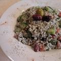Barley, Tomato, and Cucumber Salad with Yogurt Dressing