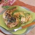 Basil and Five Spice Chicken with Cantaloupe Salad