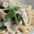 Chicken Pasta with Basil, Lemon and Garlic 