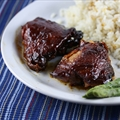 BBQ Chicken Thighs in Crockpot