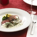 Beef Tenderloin with Creamy Alouette Mushroom Sauce