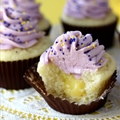 Blueberry Lemon Curd Cupcakes