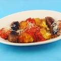 Braised Sausages with Polenta (r T)