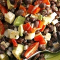 Brazilianesque black bean salad