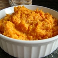 Brown sugar and cinnamon mashed sweet potatoes