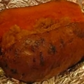 Brown Sugar Topped Baked Sweet Potato