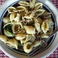 Campanelle with Broccoli Raab, Sausage & Olives