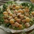 Cantaloupe Turkey Salad Delight
