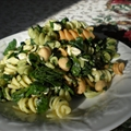 Cavatappi and Garbanzo beans with Spinach and Feta