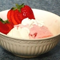 Champagne Sorbet with Wild Strawberries