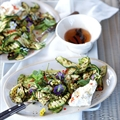 TasteMag: Charred Baby Marrow and Chilli Salad