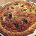 Cheaty salmon and broccoli quiche recipe