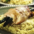 Chicken-Asparagus Roll-ups with Orange Yogurt Sauce and Couscous
