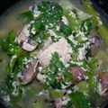 Chicken, Spinach and Egg Herb Soup