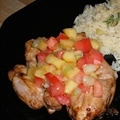 Chicken With Peach Salsa