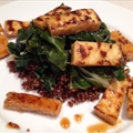 Chile lime tofu w/ quinoa and greens