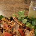 Chili Crusted Grilled Chicken Salad With Lime Cilantro Dressing