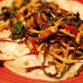 Chinese Plum Chicken in Pancakes (Moo shu)