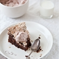 Chocolate and Hazelnut Meringue Cake, adapted from Martha Stewart