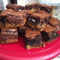 Chocolate Chip and Oreo Fudge Brownie Bars