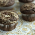 Chocolate peanut butter swirl muffins