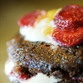 Chocolate Strawberry Shortcake Cupcakes (Vegan)