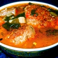 Chorizo, Kale, and Pork Meatball Soup
