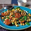 Chickpea, Tomato and Chorizo Salad