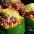 Chris' Fire Roasted Stuffed Bell Peppers