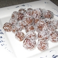 Coconut Covered Pom & Cranberry Balls