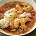 Cod and Shrimp Stoup with Mashed Potatoes