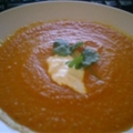 Cold Carrot Soup with Indian Spices