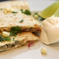 Corn, Jalapeno and Cilantro Quesadillas