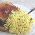 Cream Cheese And Chive Scrambled Eggs