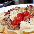 Creamy Farfelle with Sweet Italian Sausage