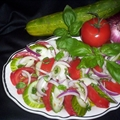 Cucumber, Onion and Tomato Salad