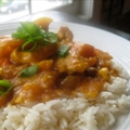 Curried mango chicken