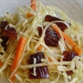 Date Coleslaw with Orange-Ginger Vinaigrette