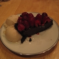 Decadent Chocolate Raspberry Ganache pie