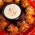 Deep Fried Artichoke Hearts with Gorgonzola Dipping Sauce