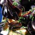 Delicious Mussels in Coconut and White Wine