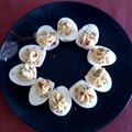 Deviled Eggs with Bacon and cheese