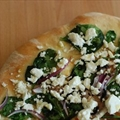 Easy Spinach, Onion, and Feta Pizza