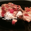 Easy Tomato Basil Pork Chops with Orzo and Rice