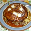 Egg Sausage Pancake Sandwich