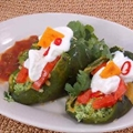 Egg Stuffed Roasted Chiles