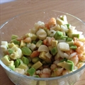 Ensalada de Aguacate, Langostinos y Palmitos