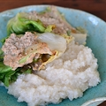 Escarole Wraps with Sage Walnut Cream Sauce