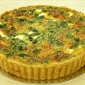 Feta, Onion, Spinach and Pepper Quiche